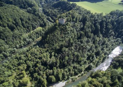 Vue aérienne du Château d'Illens