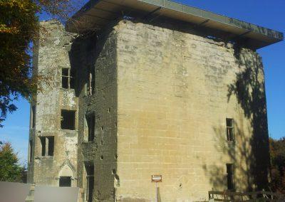 Pose du toit du Château d'Illens